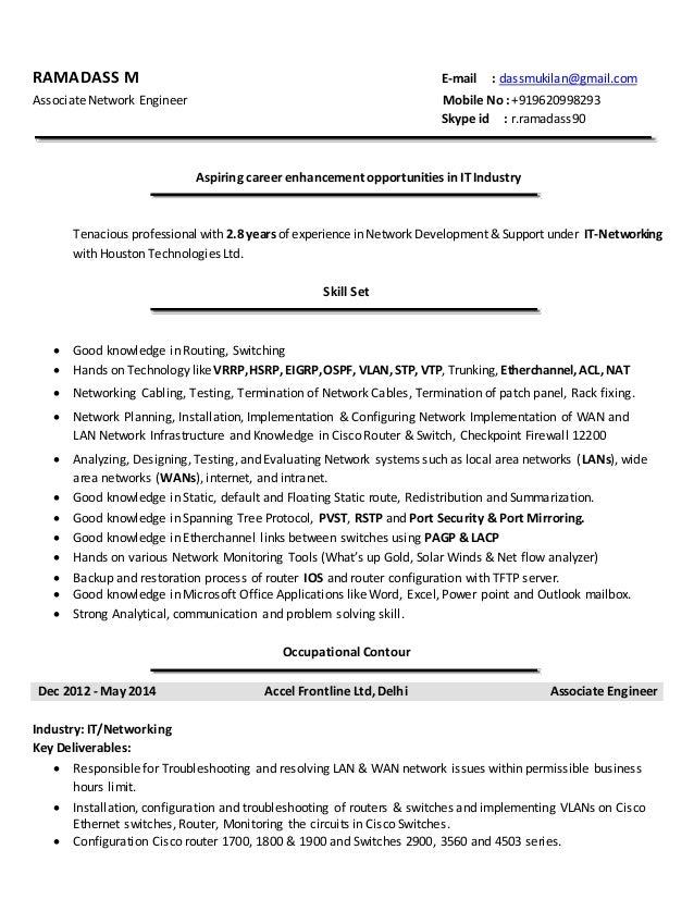 RAMADASS M E-mail : dassmukilan@gmail.com Associate Network Engineer Mobile No : +919620998293 Skype id : r.ramadass90 Asp...