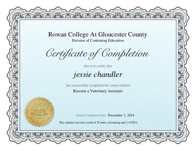 Vet Assit Certification