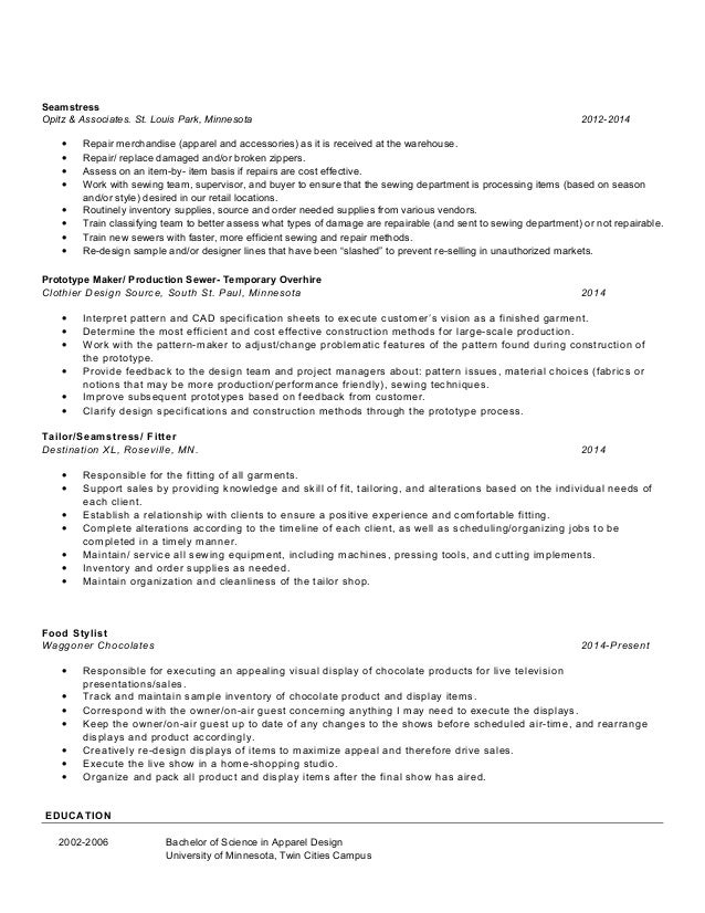 seamstress resume objective data analyst resume sample resume