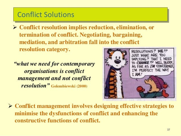 conflict management and conflict solutions Conflict resolution - learn how to resolve your conflict now visit our site for three free interactive video lessons.