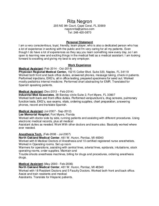 Rita Negron Resume NEWest 2