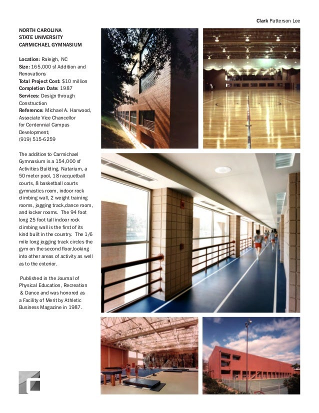 Town of garner indoor recreation center cpl complete soq for Racquetball court construction cost