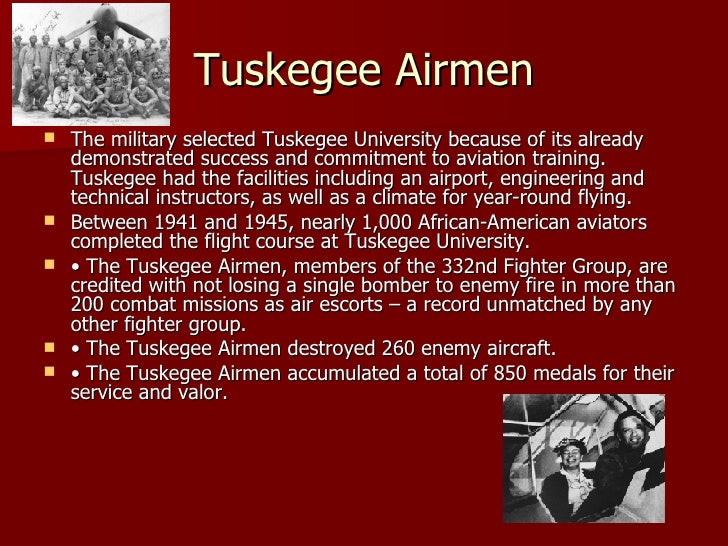 tuskegee airmen thesis statement Free tuskegee airmen papers, essays, and research papers.