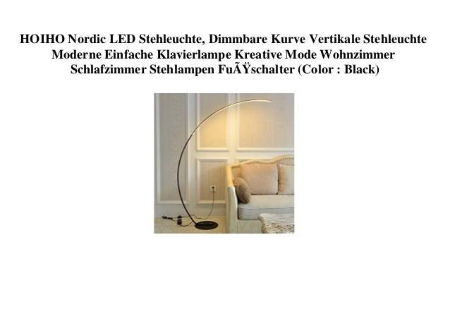 HOIHO Nordic LED Stehleuchte, Dimmbare Kurve Vertikale Stehleuchte Moderne Einfache Klavierlampe Kreative Mode Wohnzimmer ...