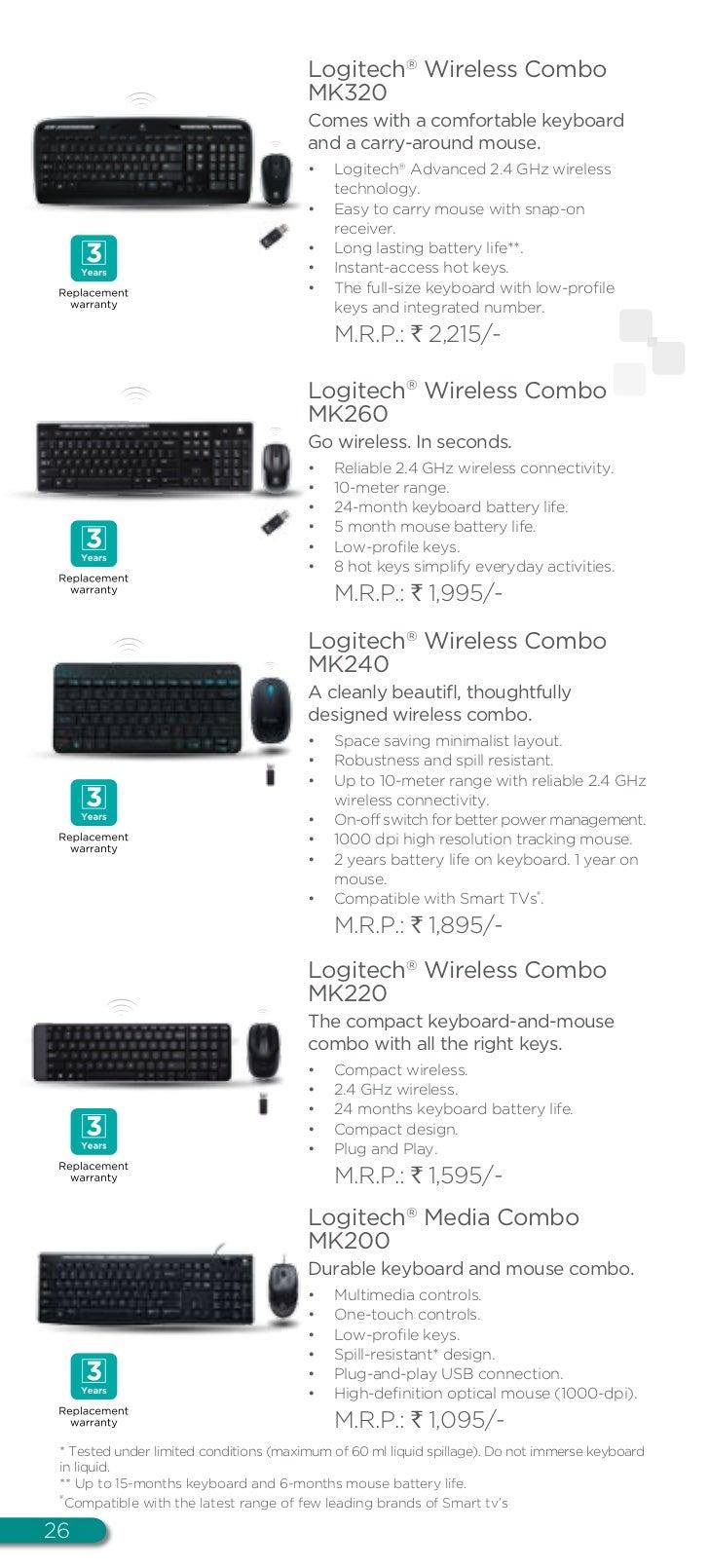 Logitech Digital It Catalogue Wireless Combo Mk240