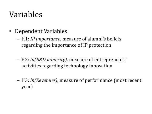 Variables • Independent Variables – H1: Post*Treated, differences-in-differences estimator of Project 985's effects on bel...