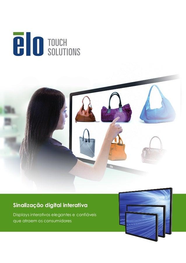 Sinalização digital interativa Displays interativos elegantes e confiáveis que atraem os consumidores