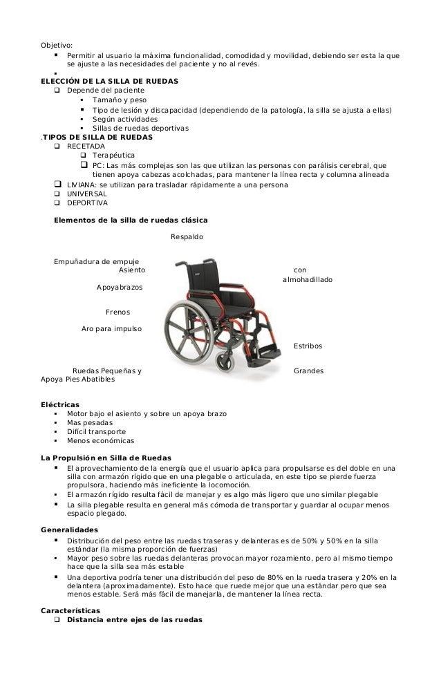 Marcha con aparatos auxiliares - Tamano silla de ruedas ...