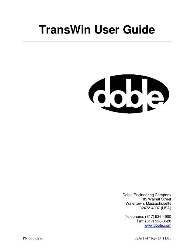 TransWin User Guide