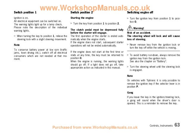 Porsche 986 owners manual