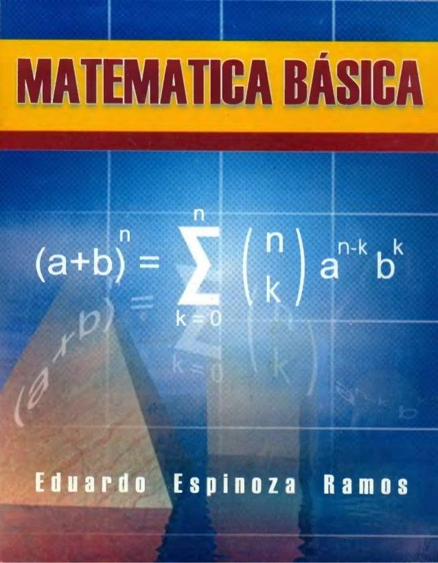 libro de matematica basica mas extendido  dde Eduardo Espinoza