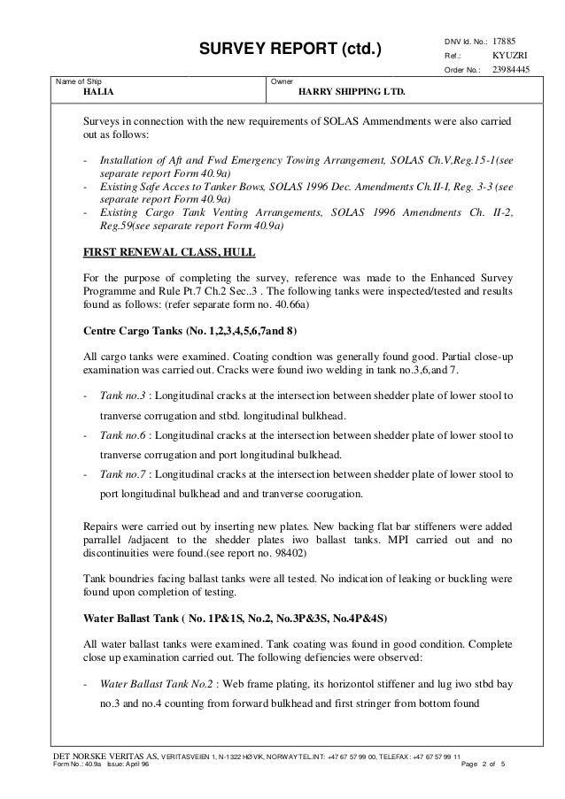 fa56a0c9227 DNV Survey Report_HALIA_Renewal Survey Class and Statutory