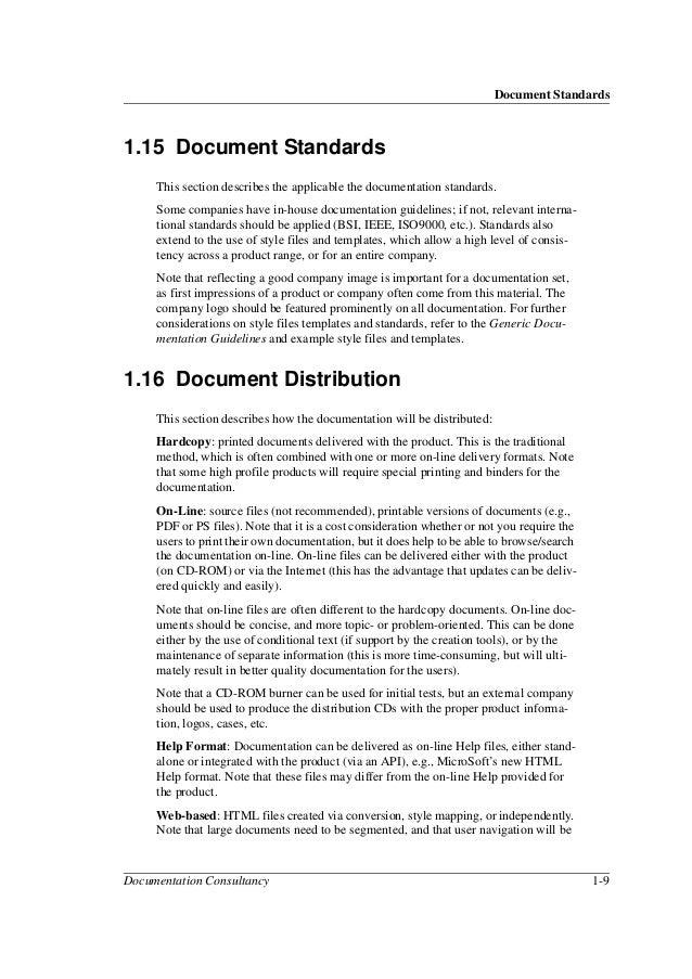 Document Standards Documentation Consultancy ...