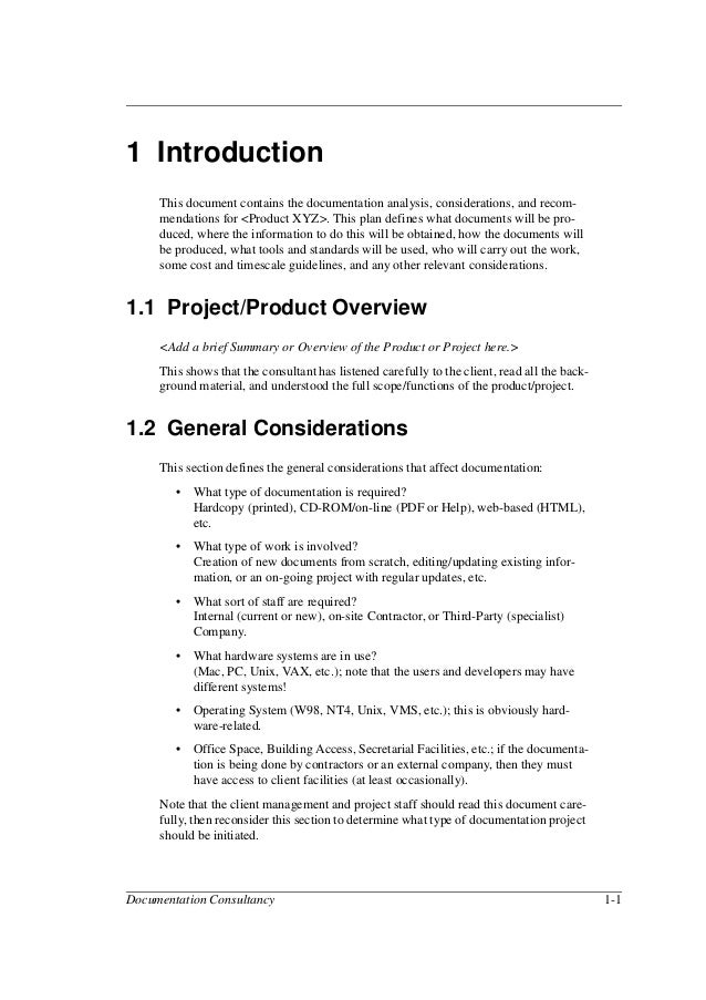 Preface Vi Documentation Consultancy