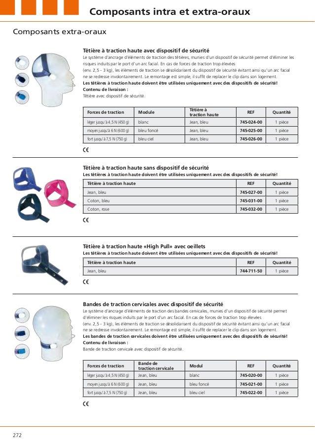 Composants intra et extra-orauxComposants extra-oraux                Têtière à traction haute avec dispositif de sécurité ...