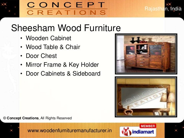 Acacia Wooden Furniture by Concept Creations Jodhpur