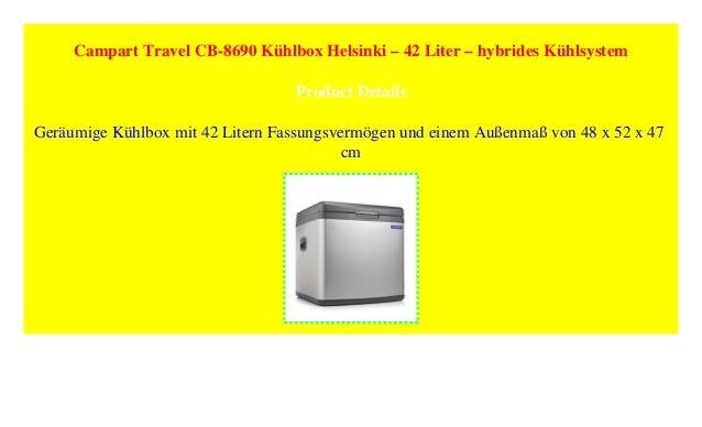42 Liter Campart Travel CB-8690 K/ühlbox Helsinki hybrides K/ühlsystem
