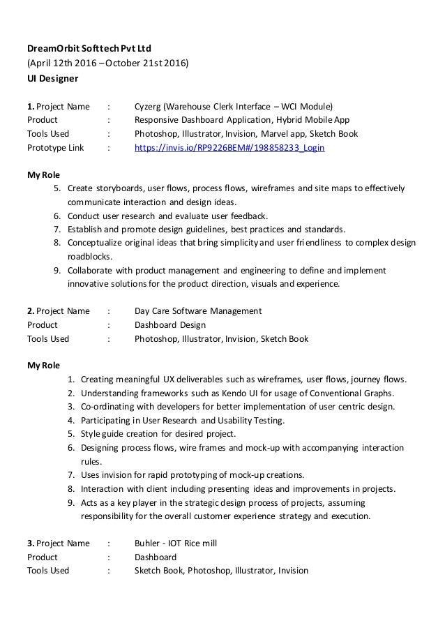 2 - Ux Designer Resume