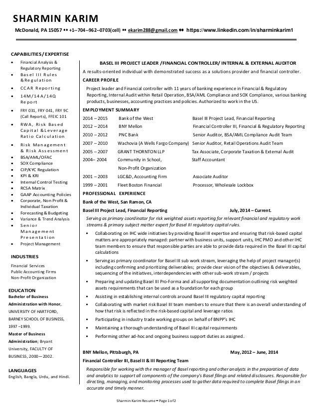 sharmin karim resume