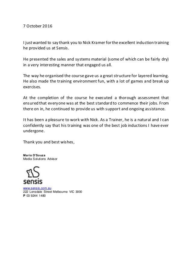 Thank you letter for training peopledavidjoel thank you letter for training expocarfo Image collections