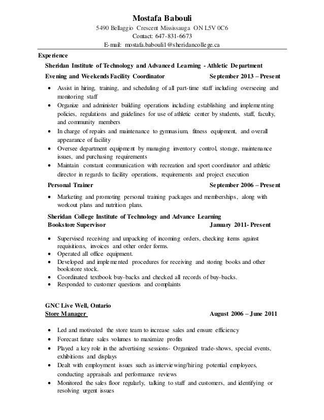 Sheridan College Resume Help - Resume Ideas - namanasa.com