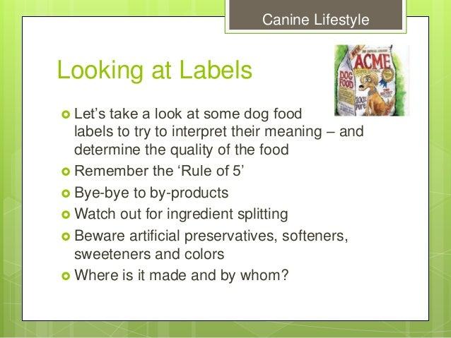 How To Interpret Dog Food Labels