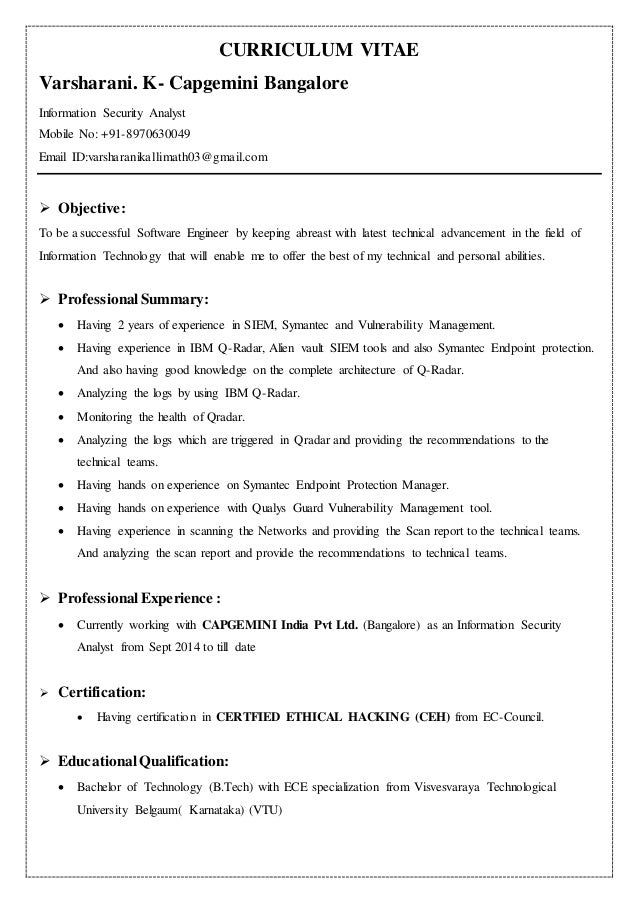 Stunning Information Security Manager Resume Photos - Best Resume