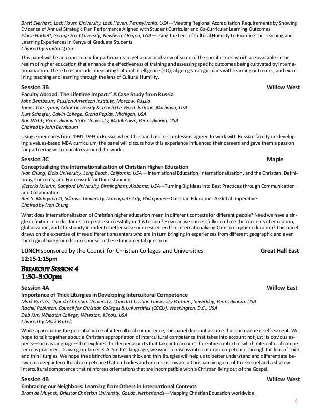 6 Brett Everhart, Lock Haven University, Lock Haven, Pennsylvania, USA—Meeting Regional Accreditation Requirements by Show...