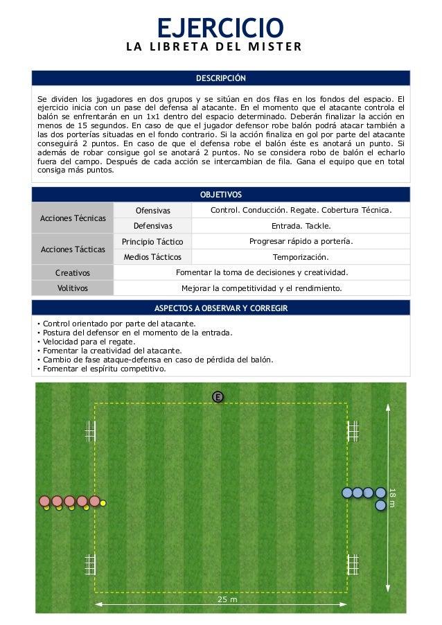 EJERCICIO  L A  L I B R E T A  D E L  M I S T E R  DESCRIPCIÓN  Se dividen los jugadores en dos grupos y se sitúan en dos ...