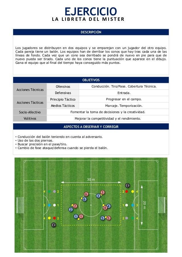 EJERCICIO  L A  L I B R E T A  D E L  M I S T E R  DESCRIPCIÓN  Los jugadores se distribuyen en dos equipos y se emparejan...