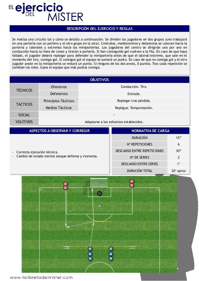DESCRIPCIÓN DEL EJERCICIO Y REGLAS  Se realiza una circuito tal y cómo se detalla a continuación. Se dividen los jugadores...