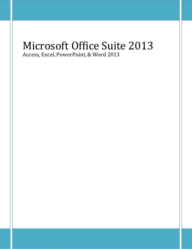 2013 Microsoft Office Certification Outline