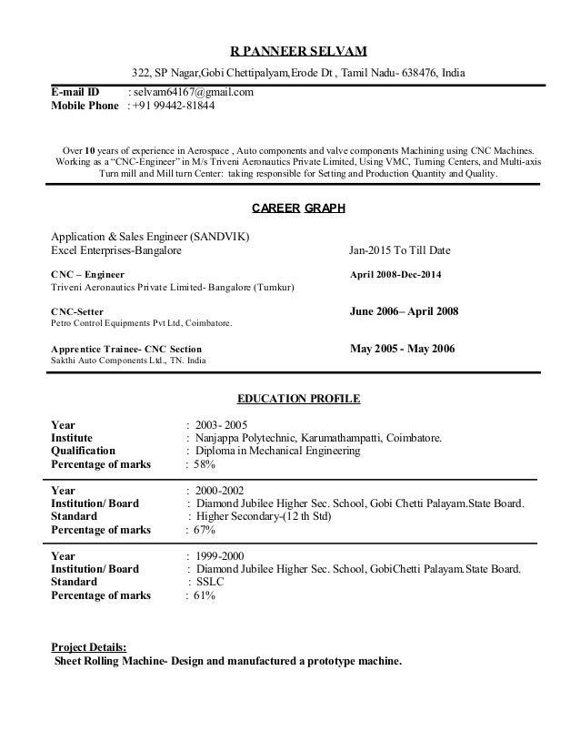 selvam resume
