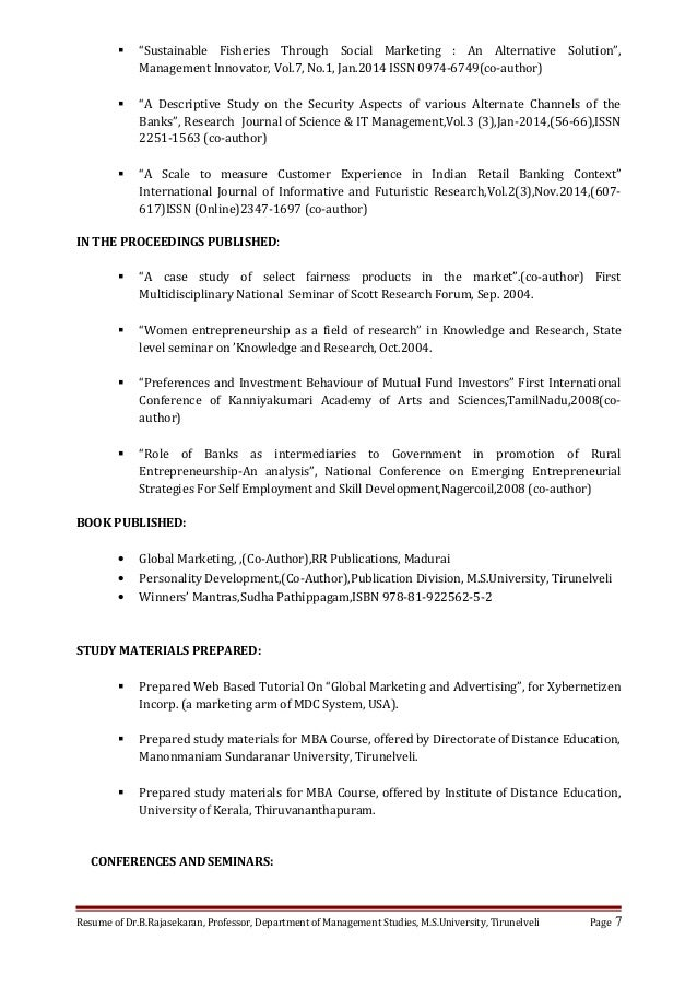 resume of brs - Lead Author Resume