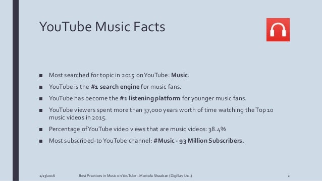 Best Practices In Music On Youtube