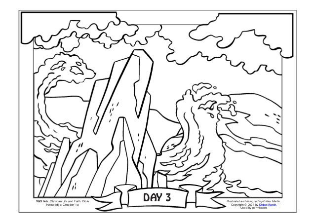 DAY 3 S&S link: Christian Life and Faith: Bible Knowledge: Creation-1a Illustrated and designed by Didier Martin. Copyrigh...