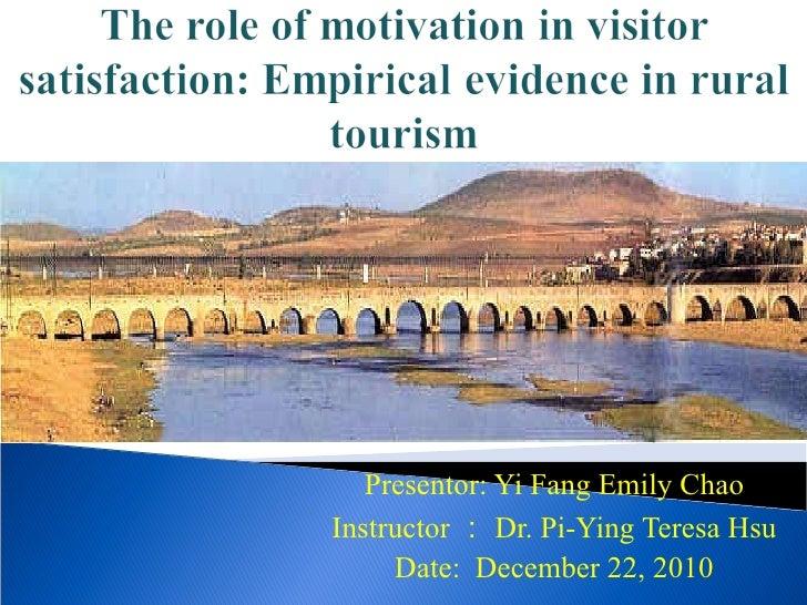 Presentor: Yi Fang Emily Chao Instructor : Dr. Pi-Ying Teresa Hsu Date:  December 22, 2010