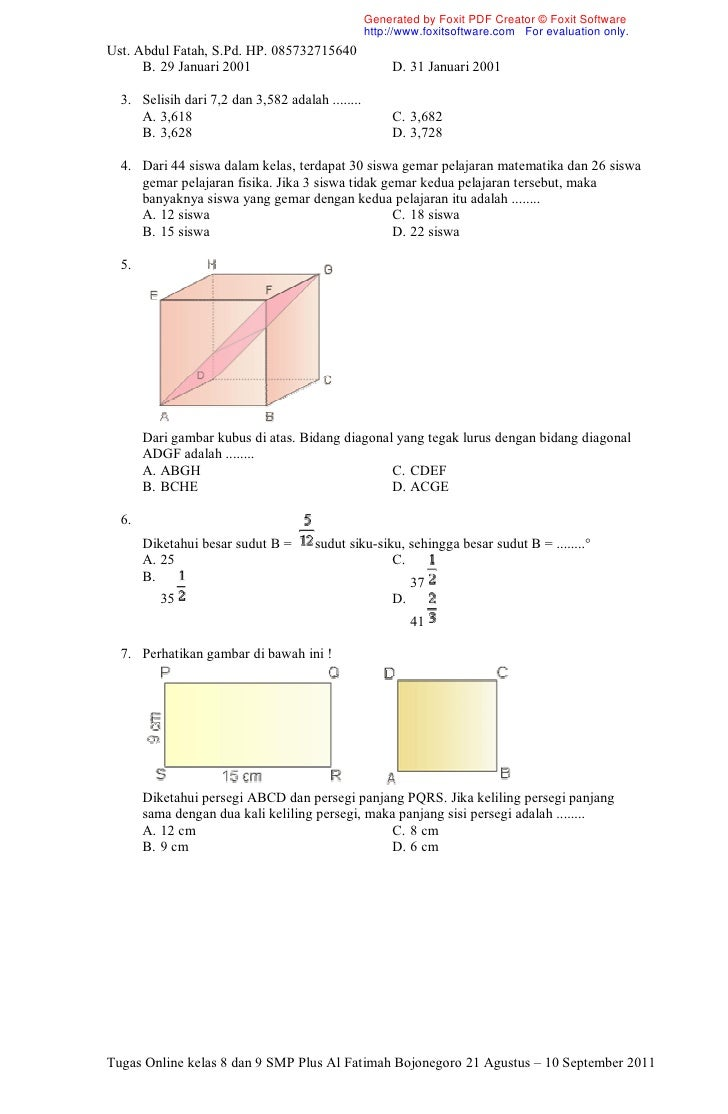 Soal kelas 8 dan 9 10 ccuart Images