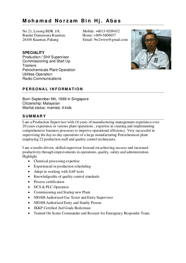 norzam resume