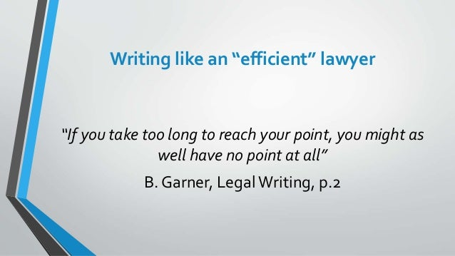writing like a lawyer