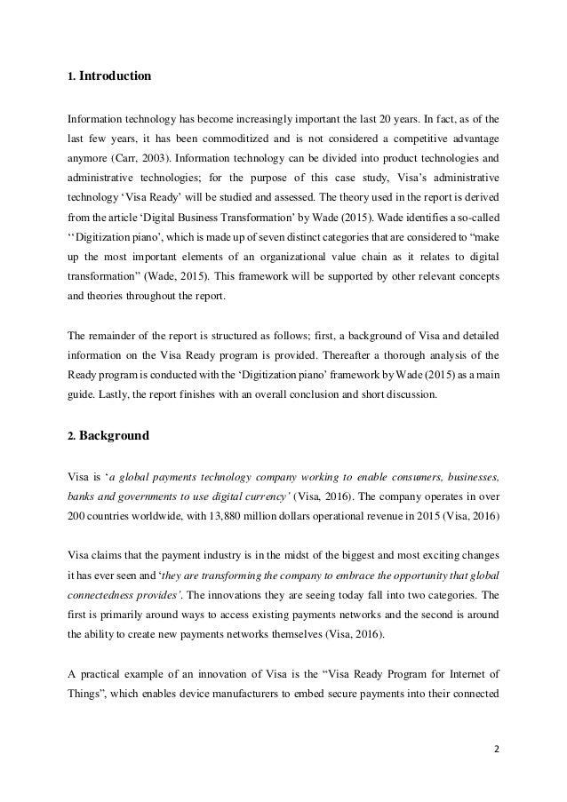visa case study Die hard versus lethal weapon: a comparative christmas essay how to begin dissertation halloween essay jokes indledning til dansk essay writer 'bills, bills, bills.