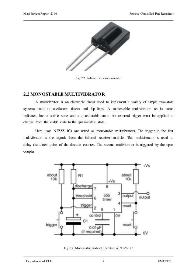 3) Remote Controlled Fan Regulator