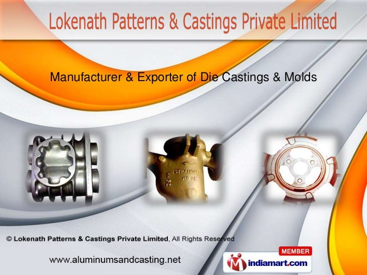 Manufacturer & Exporter of Die Castings & Molds