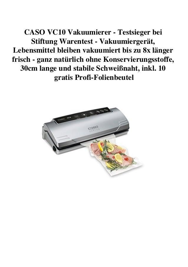 Vakuumierer Stiftung Warentest