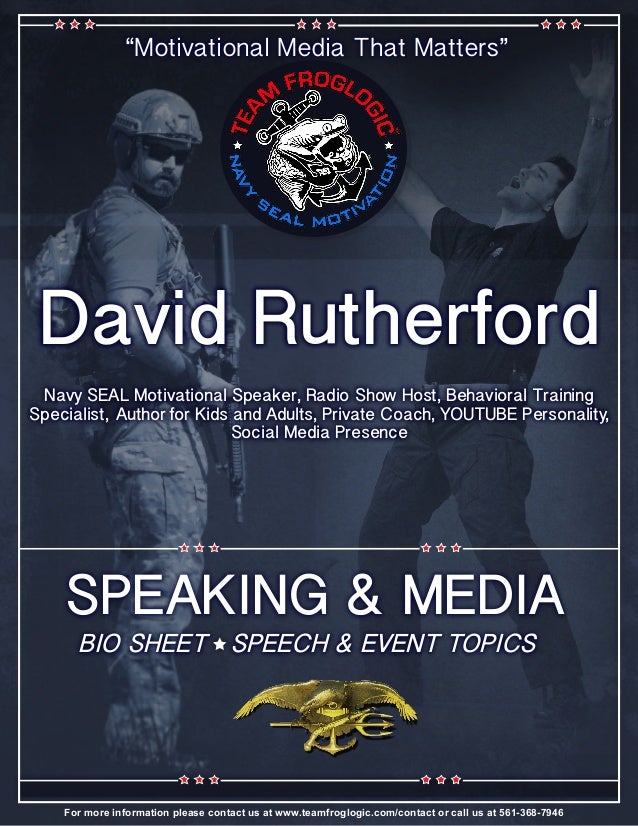 David Rutherford Bio Speeches Events