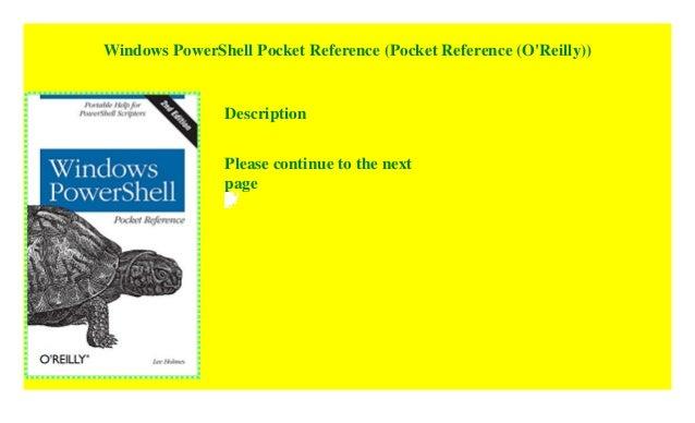 Windows PowerShell Pocket Reference (Pocket Reference (O