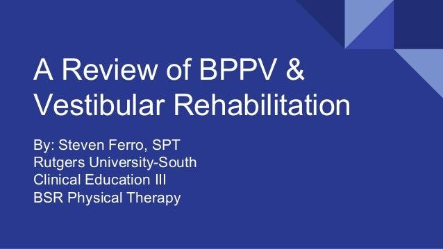 vestibular exercises for bppv youtube