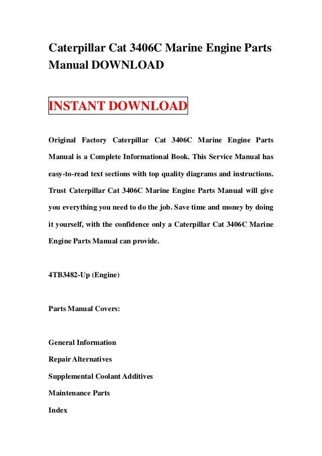 caterpillar cat 3406c marine engine parts manual download rh slideshare net 3406b caterpillar engine service manual caterpillar 3406b service manual download