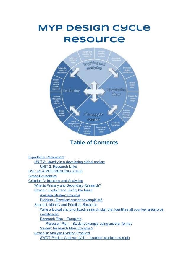 MYP Design Cycle Resource