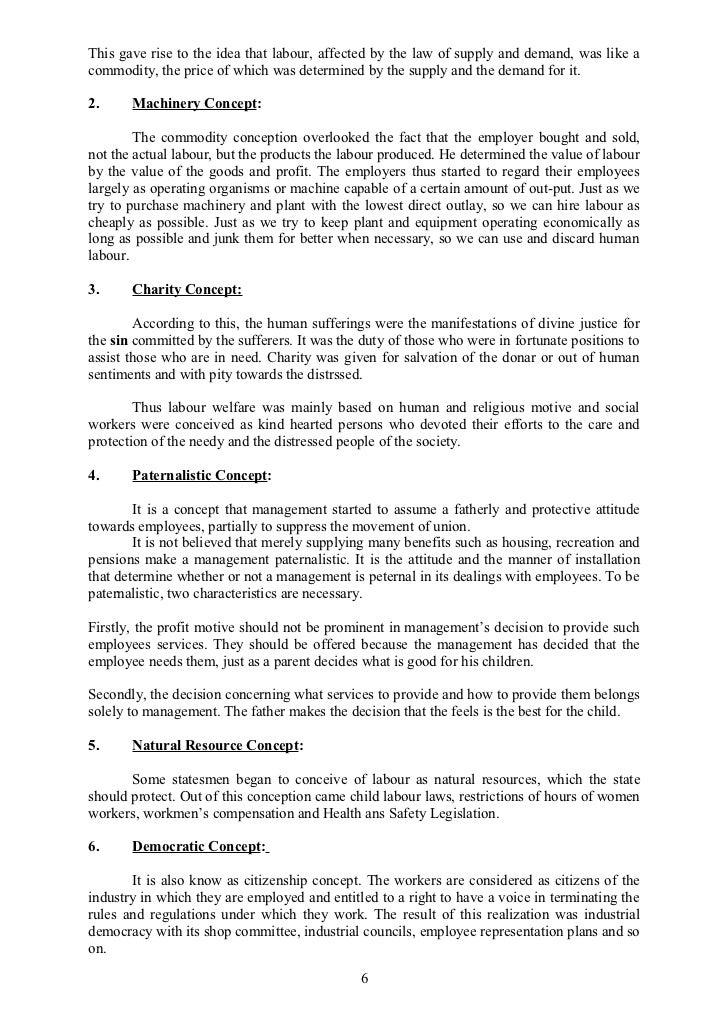 characteristics of labour